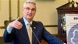 Holcomb Defends Spending Priorities As He Signs New State Budget