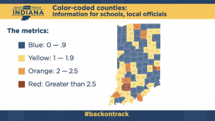 Indiana To Create Color-Coded COVID-19 Map To Help Guide School Decisions