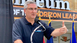 Holcomb Urges People To Be Vigilant, Dodges Questions About Trump After Mass Shootings