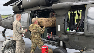 Indiana National Guard Unit Helping With Hurricane Relief