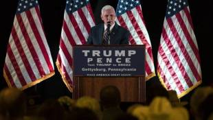 Pence Defends Trump, Says He's Not Dropping Out