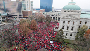 Thousands Of Teachers Pack Indiana Statehouse For Protest