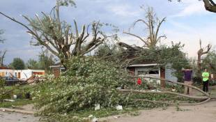 Kokomo Residents Survey Damage Following EF3 Tornado