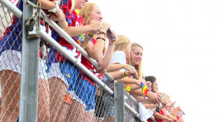 Roncalli Students Rally At Football Game In Support Of Guidance Counselor