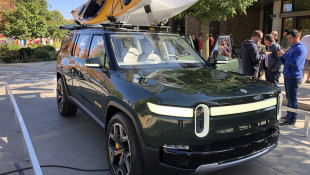 EV Builder Rivian Hosts Preview Near Its Normal, Illinois Plant