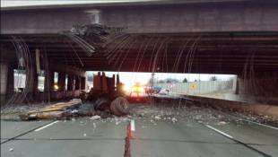 Collision With Bridge Closes Section Of I-465