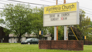 "Aletheia Church, on the southside of Indianapolis, has hosted Facebook Live and drive-in church services since the ""Stay-At-Home"" order went into effect. - Lauren Chapman/IPB News"