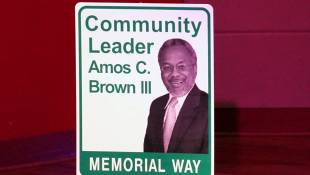 Street Renamed For Indy Advocate Amos Brown