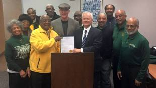 Indy Council Presents WFYI, Ted Green With Resolution For Crispus Attucks Documentary