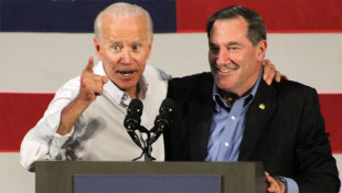Biden Campaigns With Donnelly In Northwest Indiana