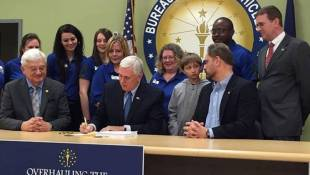 Pence Signs BMV Overhaul Bill Into Law