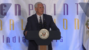 Pence Talks Anti-Violence Efforts At Indy Luncheon