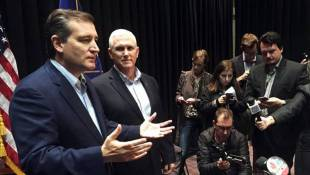 Cruz Campaigns With Gov. Pence, Glenn Beck On Eve Of Primary