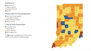 Higher-Risk Locations For COVID-19 Spread Double In Indiana