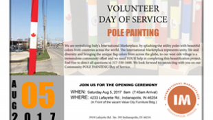 International Marketplace Hosting Day of Service to Beautify Community with Pole Painting