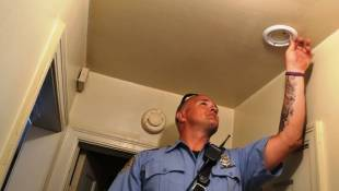 IFD Installs Smoke Detectors in Focus Area Neighborhood