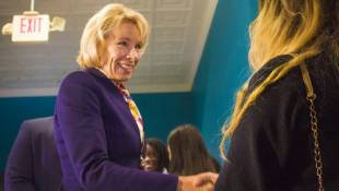 Education Secretary DeVos Visits Catholic Voucher School In Indy