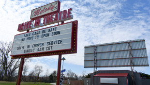 The Melody Drive-In Theatre in Knox, Indiana, offers church services in people's cars.  - Justin Hicks/IPB News