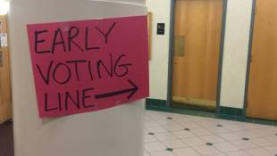 On Last Day Of Early Voting, Long Lines And Record Numbers