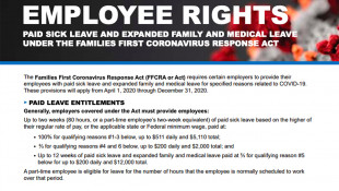 Federal Law Provides Workers Paid Leave Due To Virus
