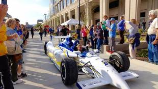 The Most Fitting Ride For State's Bicentennial Torch? An Indy Car, Of Course