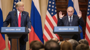 "President Trump said of Russian President Vladimir Putin, ""I called him 'main competitor,' and a good competitor he is."" -  Chris McGrath/Getty Images"