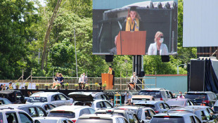 Westville High School Seniors Attend Unconventional Graduation Ceremony At Drive-In Movie Theater