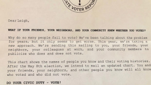 Hoosiers Warned About Voter Participation Letter