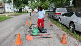 Indy Man's Pothole Project Digs Into Local Road Funding Debate