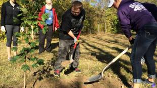 Students Plant Trees, Grow Friendships