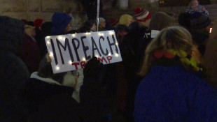 More Than 100 Rally For Impeachment In Downtown Indianapolis