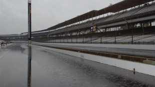 Carb Day Dawns Soggy At Indianapolis Motor Speedway