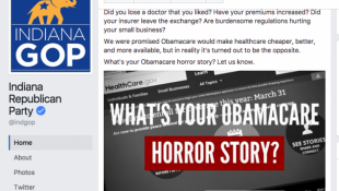 "Indiana's GOP Invites ""Obamacare Horror Stories"" On Facebook—And Gets The Opposite"