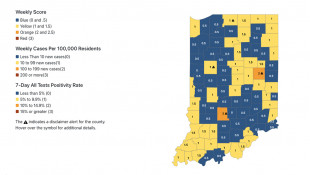 2 Indiana College Counties Listed As Moderate Virus Risk