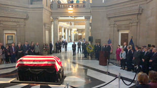 Lugar Lies In State At Statehouse As Hundreds Say Goodbye