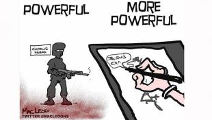 "Evansville Cartoonist: ""Ideas Are More Powerful Than Violence"""