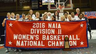 Marian Women's Basketball Team Captures National Championship