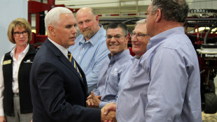 Pence Visits Indiana, Talks Trade With Hoosier Farmers