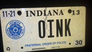 Indiana Supreme Court Rules Against 'OINK' License Plate