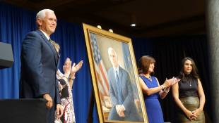 Pence Pays Tribute To Family, Faith In Official Portrait