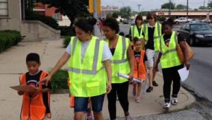 Students Help In Walk To School Assessment