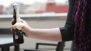 Beer Tapping Physics: Why A Hit To A Bottle Makes A Foam Volcano