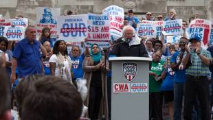 Sen. Bernie Sanders Brings Pro-Worker Rally To Indy