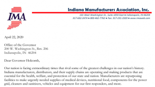 Indiana Manufacturers Ask For Consistent State Health Rules, But No Regulations