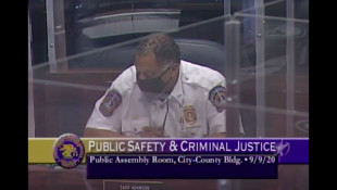 Indianapolis Police Chief Randal Taylor speaks at the meeting. - Screenshot