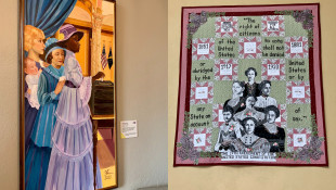 Indiana Adds Artwork To Statehouse Celebrating Women's Suffrage Centennial