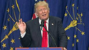 Trump Campaigns In South Bend On Eve Of Primary