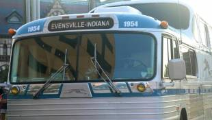 All Aboard: Vintage Buses Arrive in Evansville for Weekend Rally