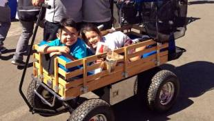 More Kids Roll In Style In Tricked-Out Giant Wagons