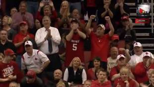 VIDEO: Louisville Basketball Player Who Broke His Leg Returns, Hits Shot